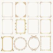 istock Calligraphic frame set. Borders corners ornate frames. Vector 1173205406