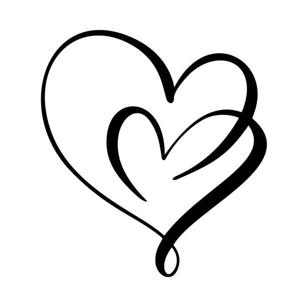 Download Filigree Heart Illustrations, Royalty-Free Vector Graphics ...