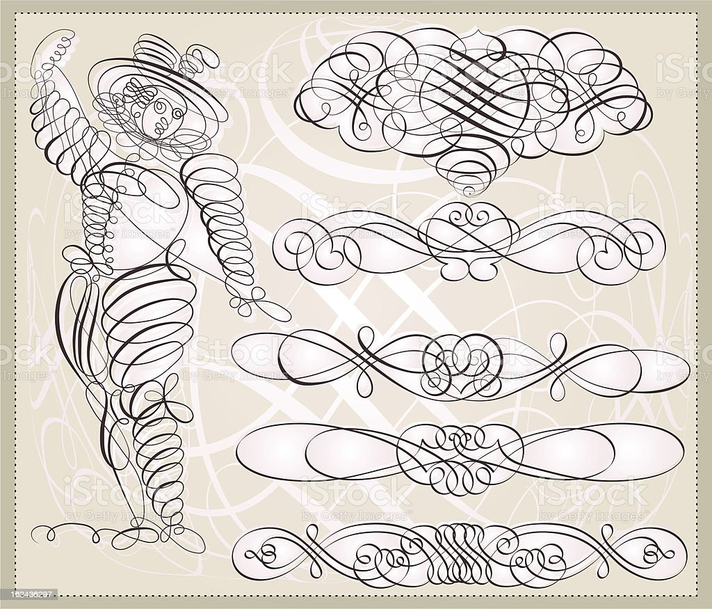 Calligraphic ornaments royalty-free calligraphic ornaments stock vector art & more images of adult