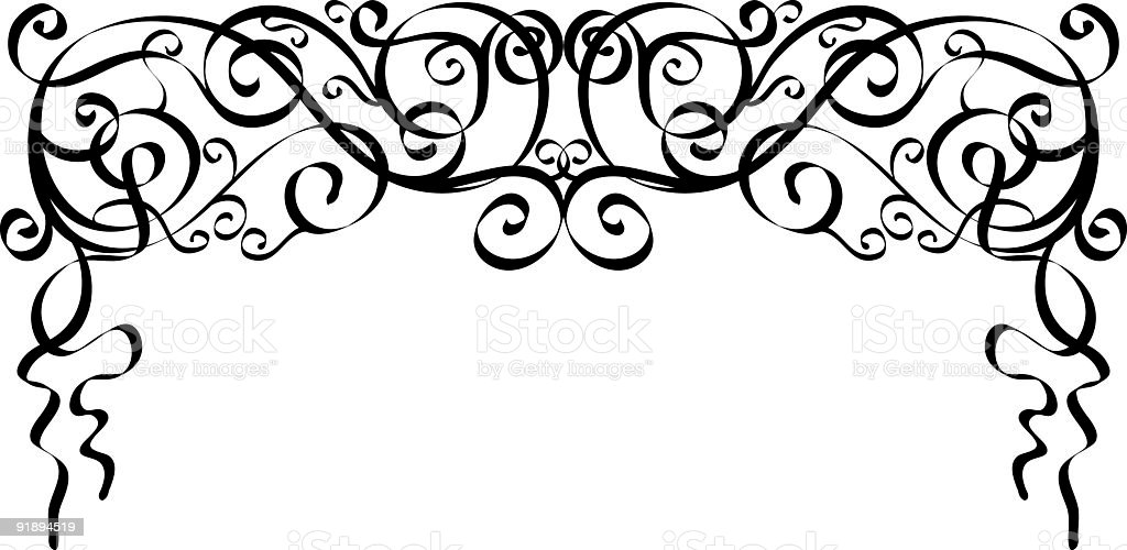 calligraphic ornaments royalty-free stock vector art