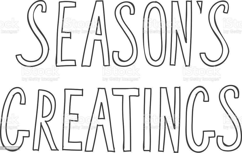 Calligraphic phrase seasons greetings on white for card or bann calligraphic phrase seasons greetings on white for card or bann royalty free calligraphic phrase seasons m4hsunfo