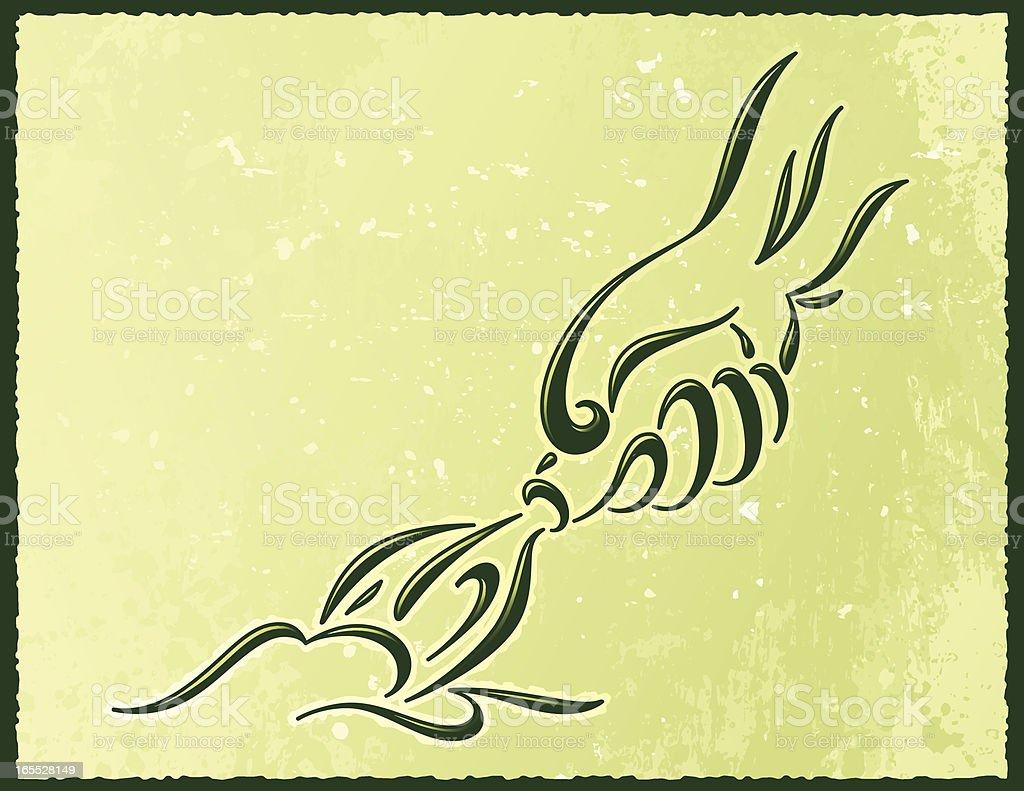 Calligraphic Seeding royalty-free stock vector art