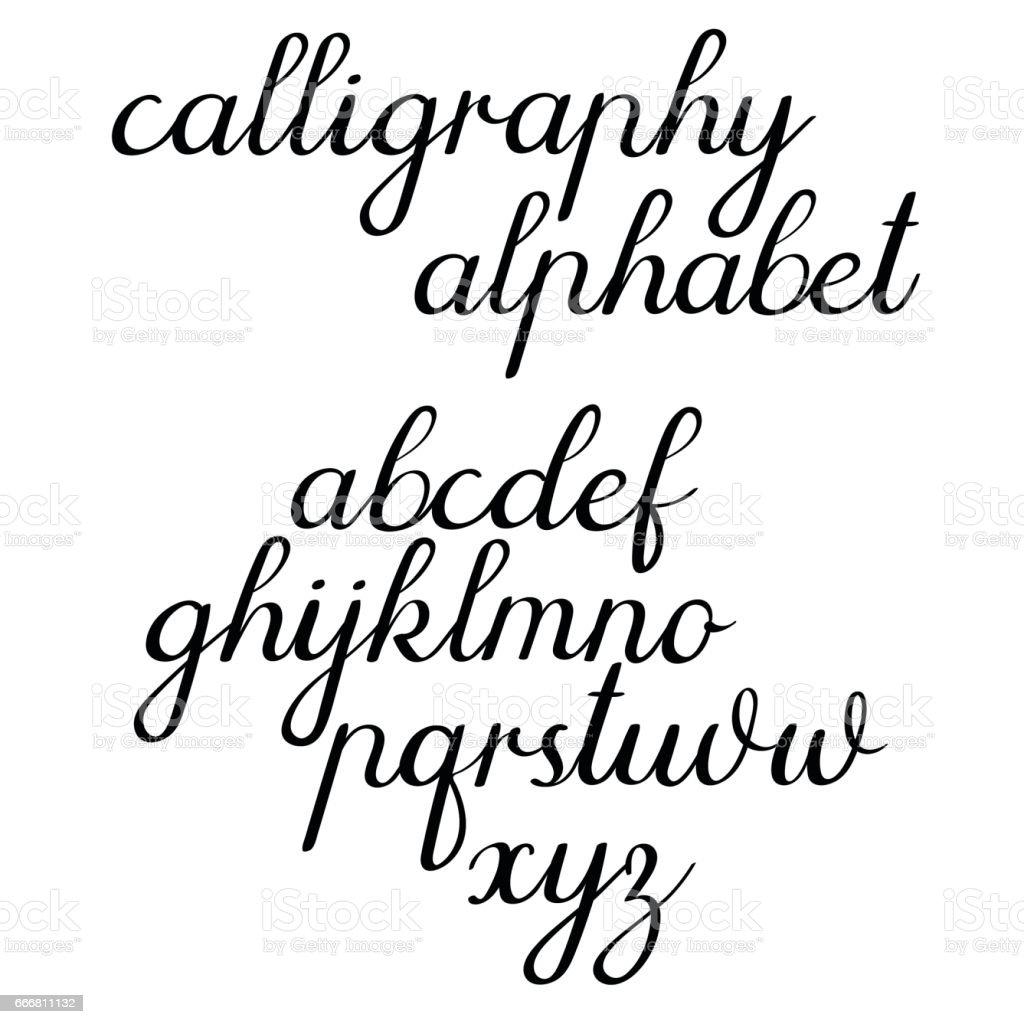 Kaligrafi Vektör Alfabe Klasik Hat Sanatı Hocası El Yazısı Harfler