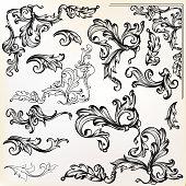 istock Calligraphic vector vintage design elements and swirls 855019182