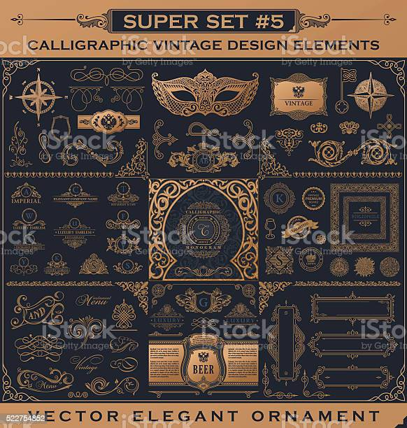 Calligraphic vintage elements vector baroque set design icons vector id522754852?b=1&k=6&m=522754852&s=612x612&h=fvhbw4xqhg nffq1w3ujqnhnjn0xc1yqpwv0ryzl364=