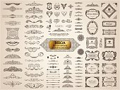 istock Calligraphic vintage elements. Vector baroque set. Design icons 654151896