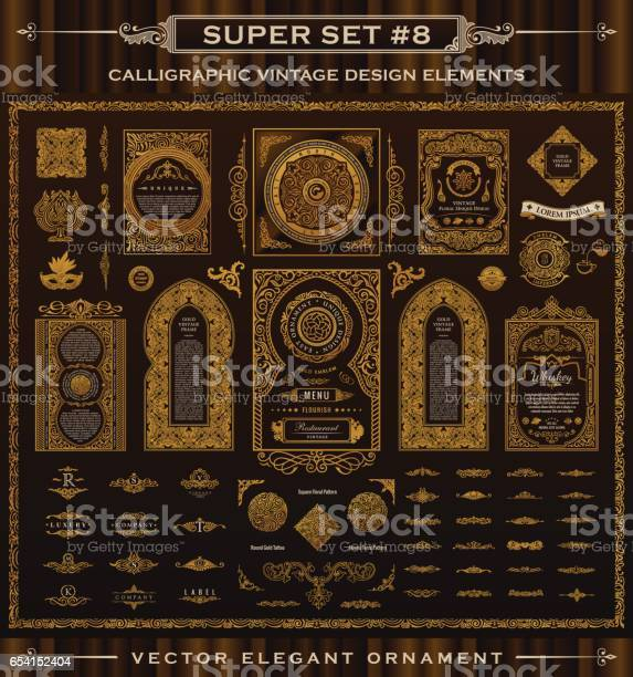 Calligraphic vintage elements vector baroque set design icons vector id654152404?b=1&k=6&m=654152404&s=612x612&h=ootyn3mxai 6l2kyncajuht2ilhblk5jr5b 8f kmrc=