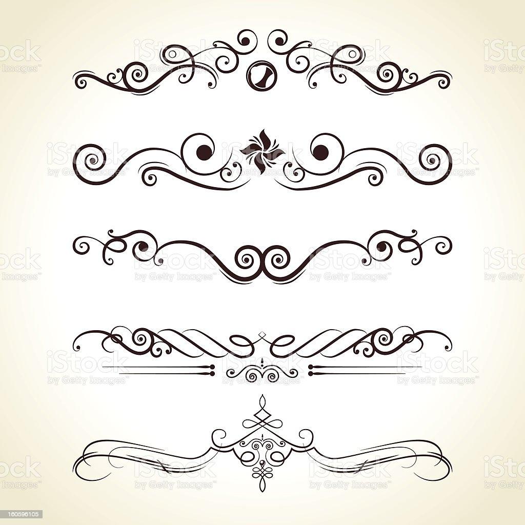 Calligraphic Vintage Flourishes royalty-free stock vector art