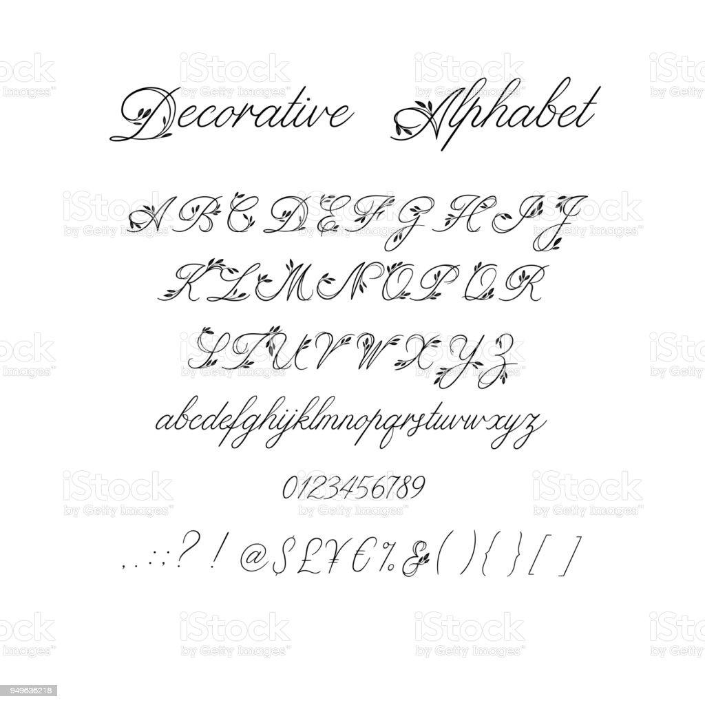 Calligraphy alphabet decorative handwritten brush font vector decorative handwritten brush font vector letters wedding calligraphy abc for stopboris Choice Image