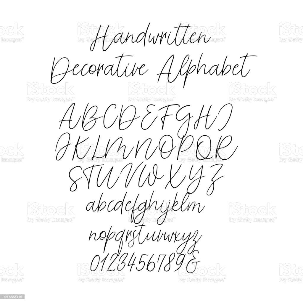 Calligraphy alphabet exclusive letters decorative handwritten brush calligraphy alphabet exclusive letters decorative handwritten brush font for wedding monogram logo stopboris Gallery