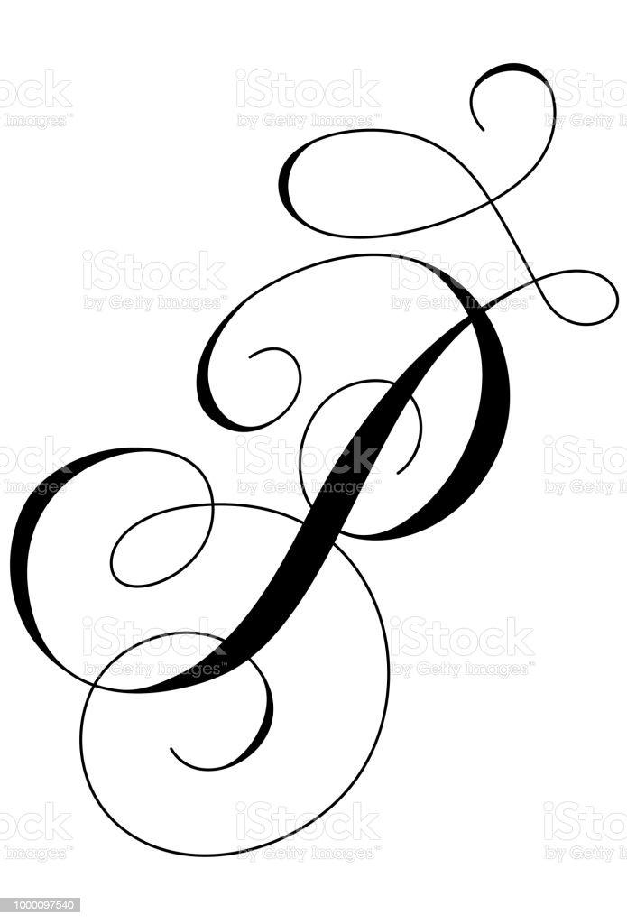 Calligraphy Alphabet Letter P Royalty Free Stock Vector Art Amp