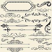 Calligraphy design set