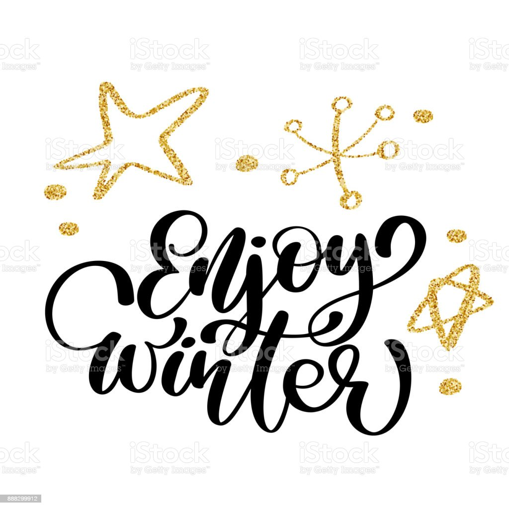 Calligraphy enjoy winter merry christmas card with template for calligraphy enjoy winter merry christmas card with template for greetings congratulations housewarming posters kristyandbryce Image collections