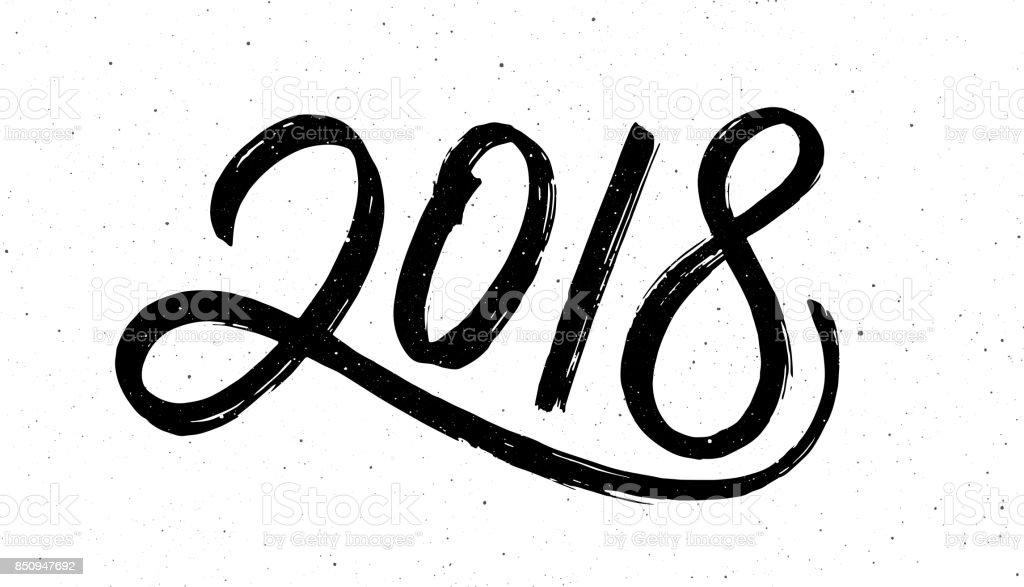 Calligraphie pour 2018 New Year of the Dog - Illustration vectorielle
