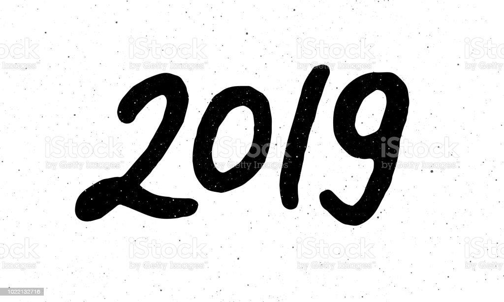 Hat Için 2019 Yeni Yıl Domuz Stok Vektör Sanatı 2019nin Daha