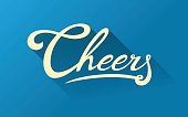 Calligraphy note card - Cheers