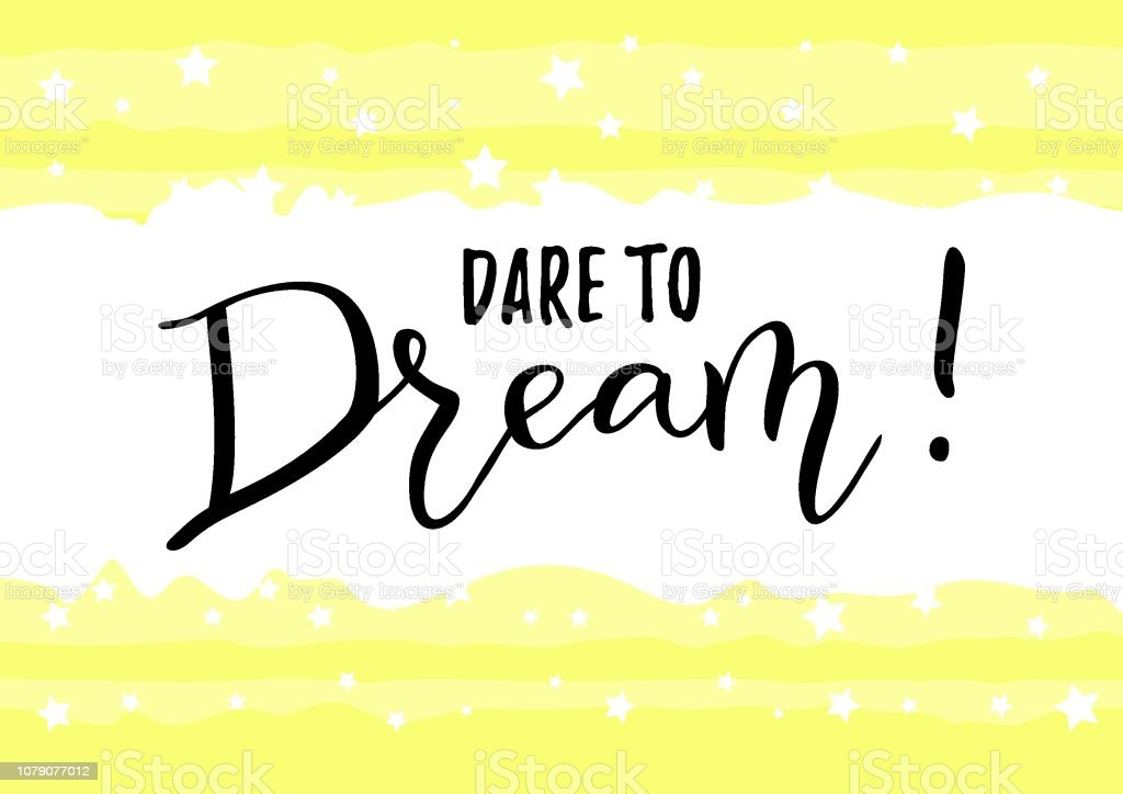 Vetores De Caligrafia De Frase Motivacional Ousar Sonho Em