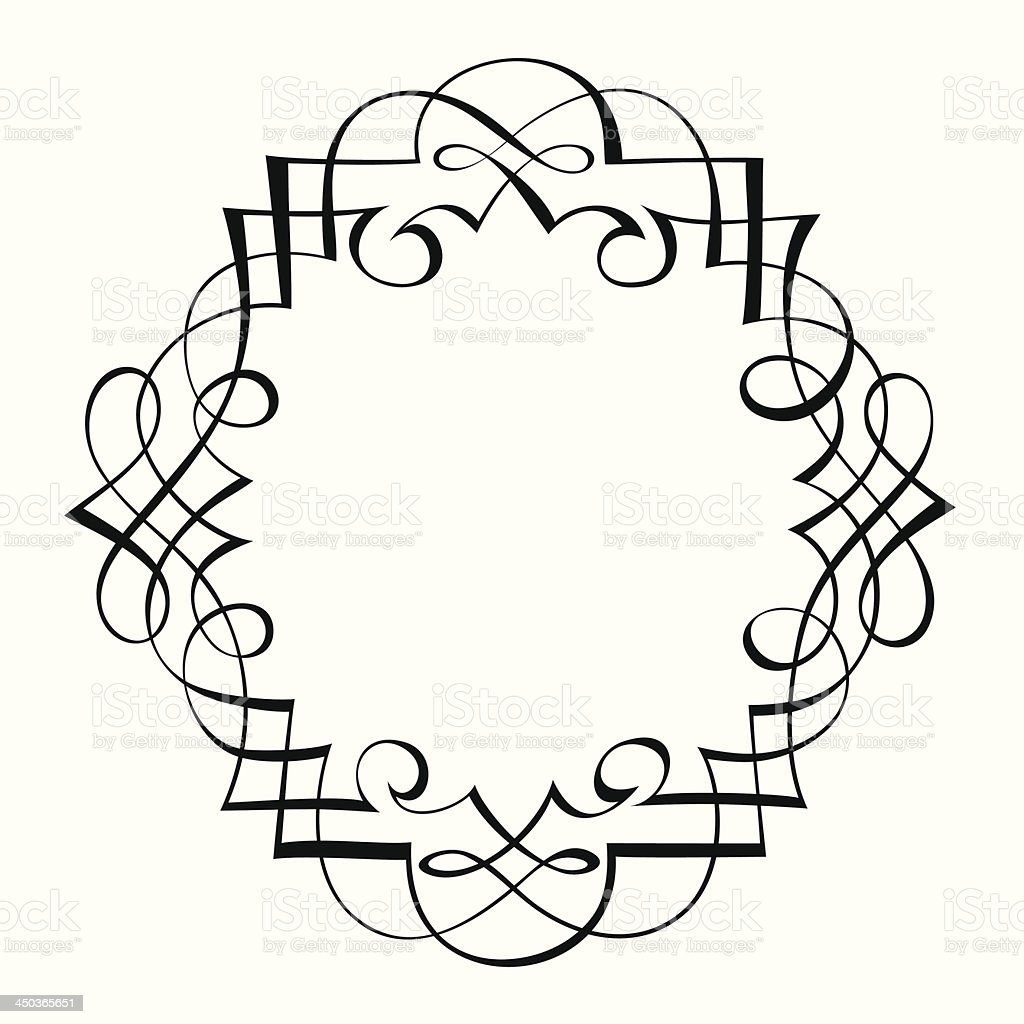 calligraphy ornamental decorative frame royalty-free calligraphy ornamental decorative frame stock vector art & more images of abstract