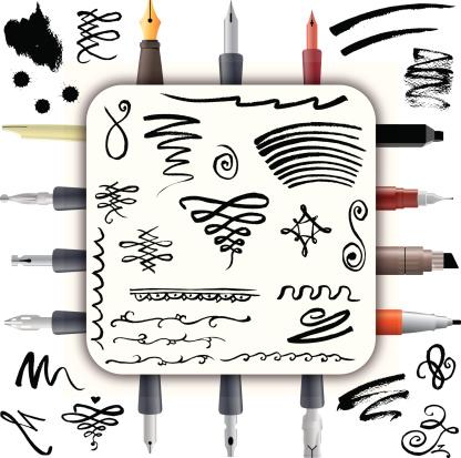 Calligraphy, Pens & Calligraphic Doodles