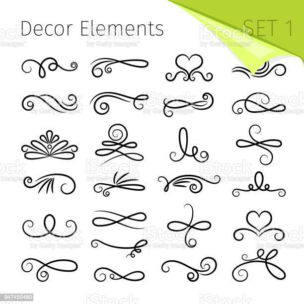 Calligraphy scroll elements decorative retro flourish swirled vector vector id947450480?b=1&k=6&m=947450480&s=612x612&h=oyvasd3xqs3fftseskoi pvx 6morhocw1rvmu82f2c=