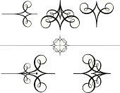 A set of five calligraphy Scrolls and flourishes and one bonus rule design, Very clean vectored images which you can ungroup if you wish, Saved in formats , AI ver 12, EPS ver 8, Corel Draw ver 8, PDF, and High Res Jpeg