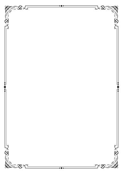 Calligraphie style calligraphique classique cadre vintage diviseur frontière element ou spirale ornement pour la décoration de mariage ou de carte - Illustration vectorielle