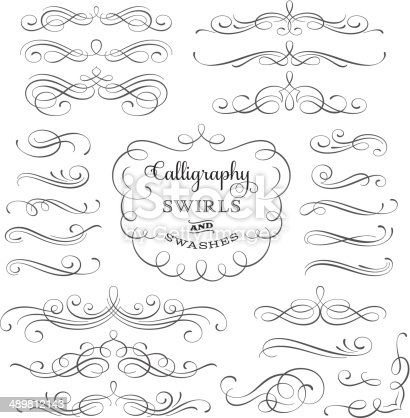 Calligraphic design elements for page decoration.More works like this linked bellow.