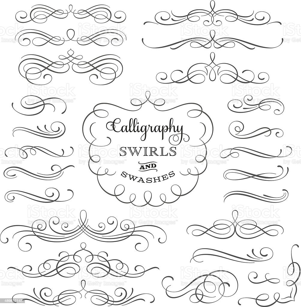 Calligraphy Swirls vector art illustration