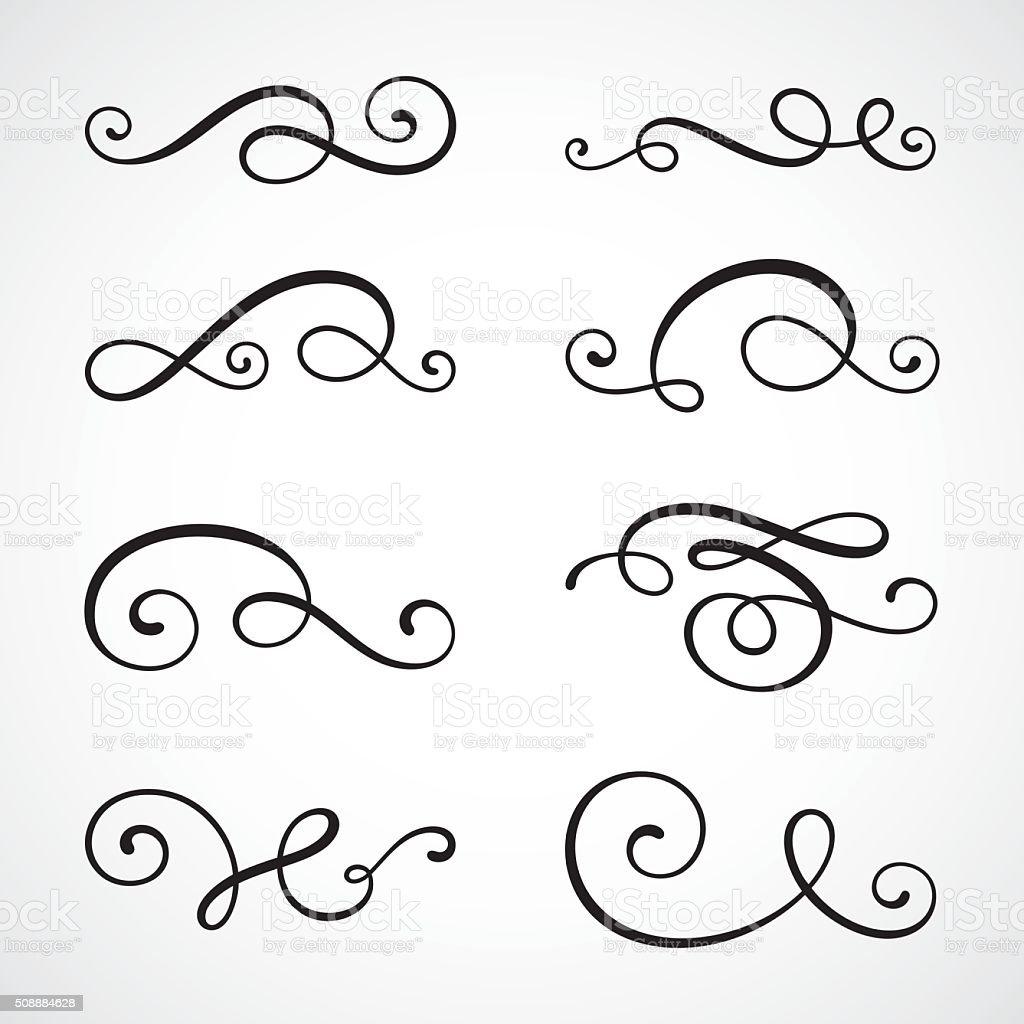 Calligraphie tourbillons - Illustration vectorielle