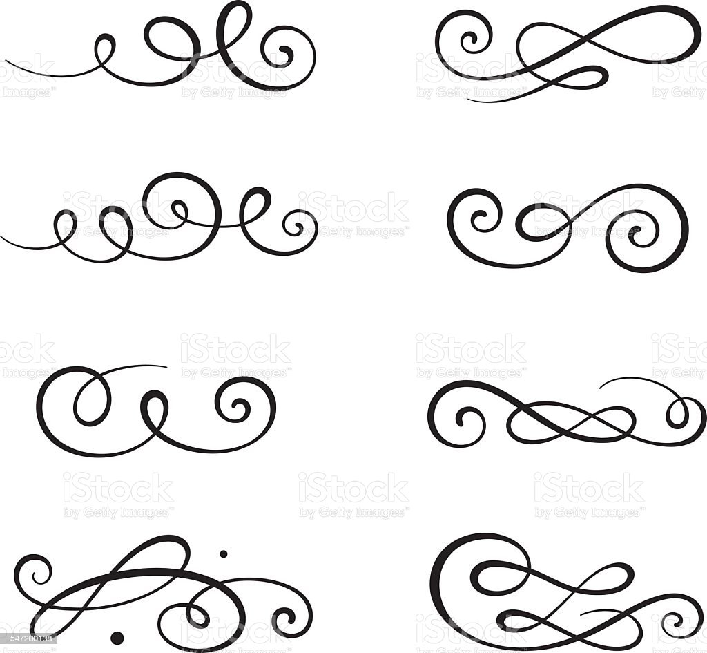calligraphy swirls stock vector art more images of black color rh istockphoto com vector swirls free vector swirls and curls