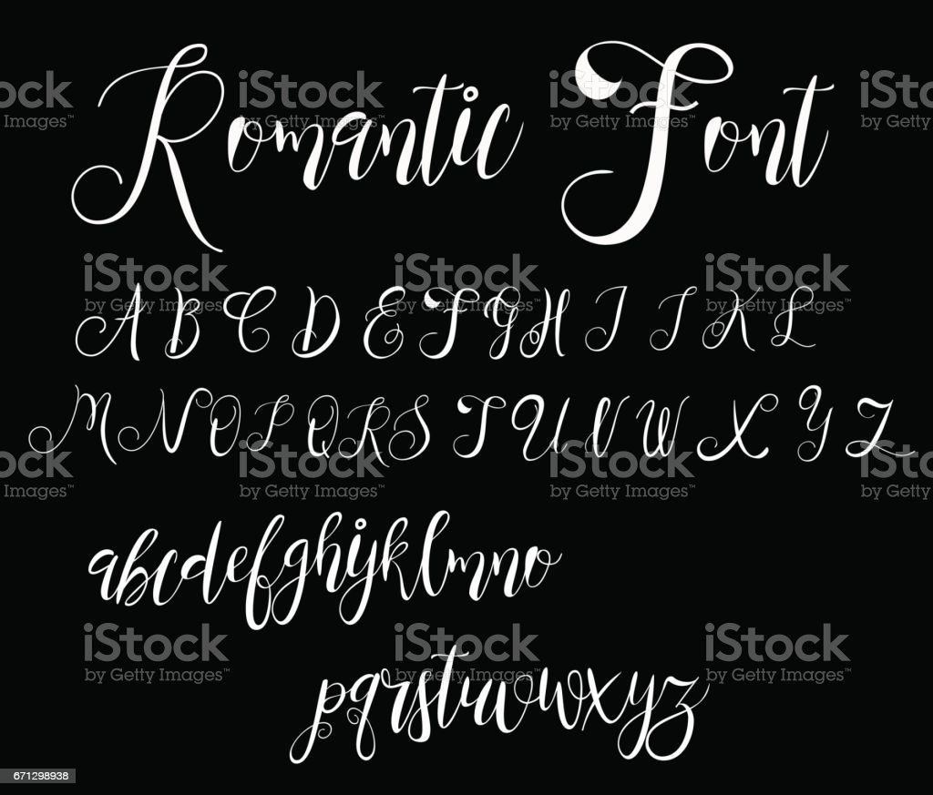 Calligraphy Tattoo Alphabet English Script Lowercase