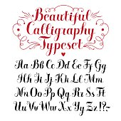 Calligraphy vector font