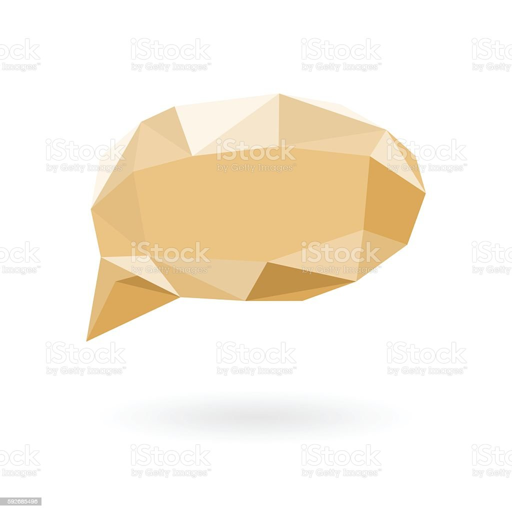 callout low poly sphere design vector art illustration