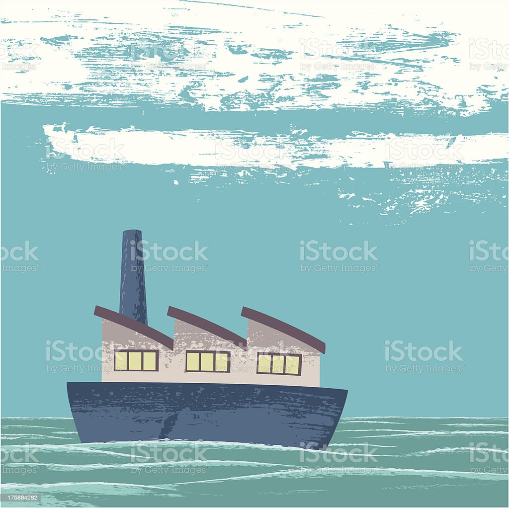 Calm sea royalty-free stock vector art