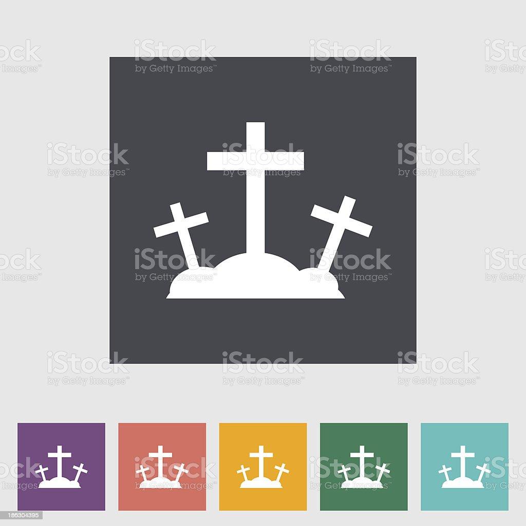 Calvary single flat icon. vector art illustration