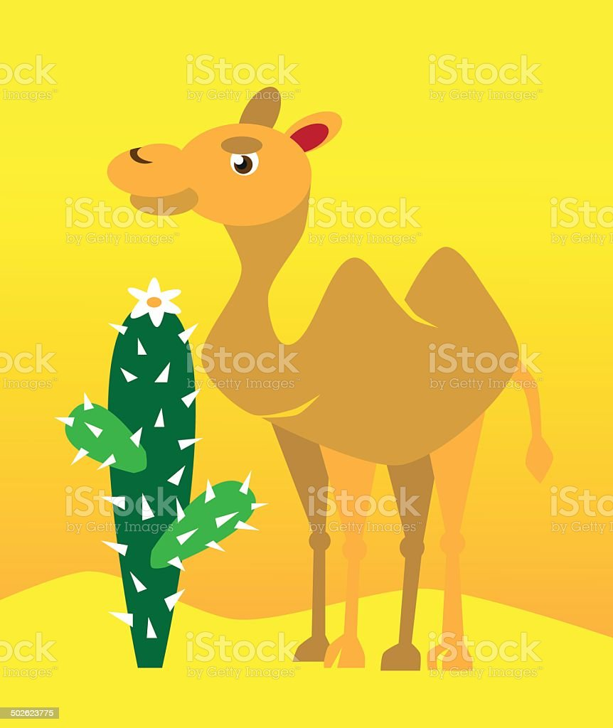 camel and cactus royalty-free camel and cactus stock vector art & more images of africa