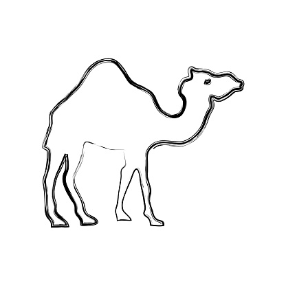 Camel Cartoon Silhouette Stock Vector Art & More Images of