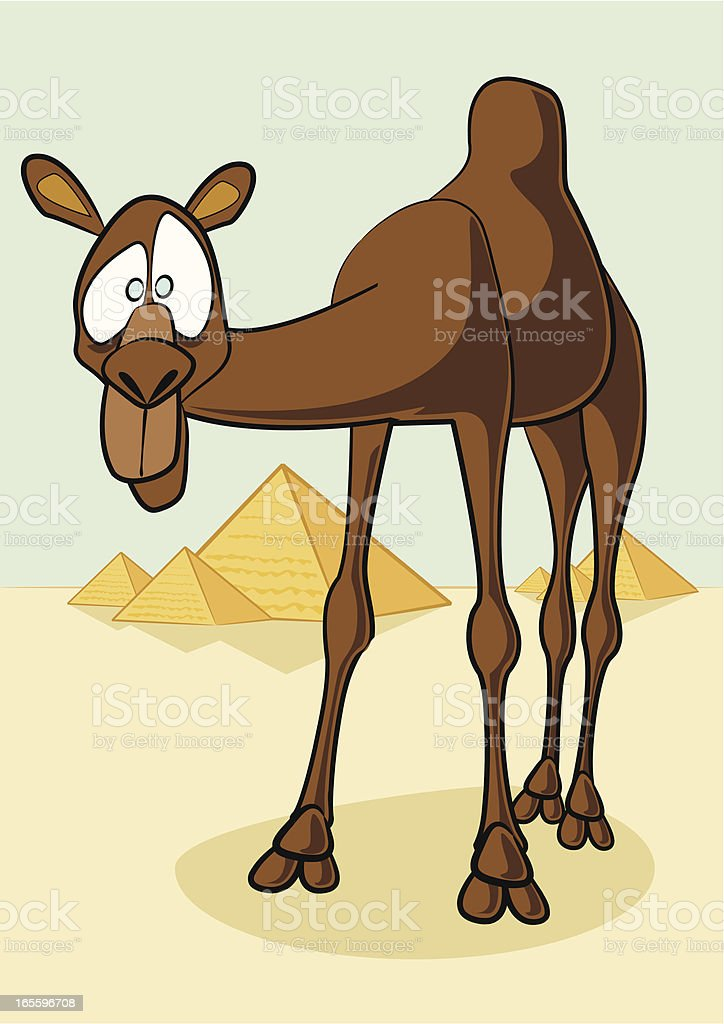 Camello de historieta ilustración de camello de historieta y más banco de imágenes de animal libre de derechos
