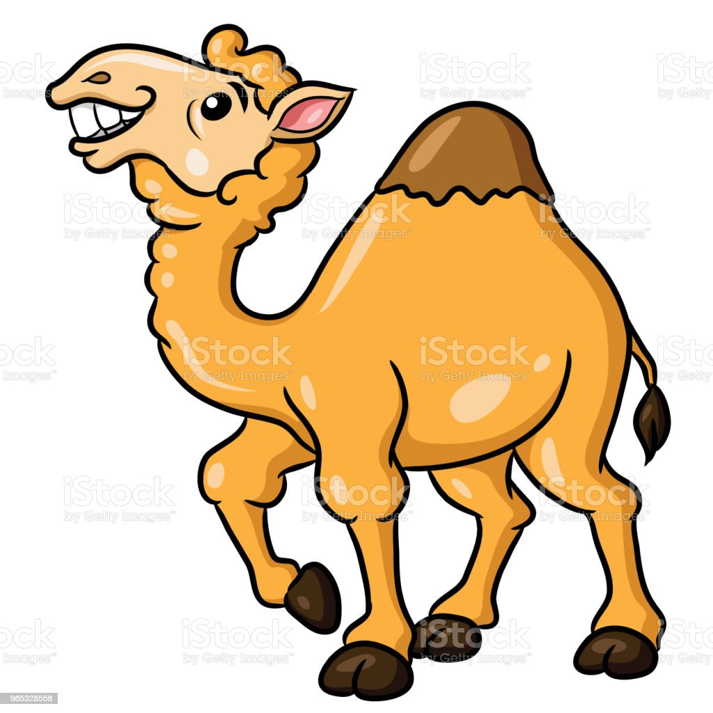 Camel Cute Cartoon camel cute cartoon - stockowe grafiki wektorowe i więcej obrazów afryka royalty-free