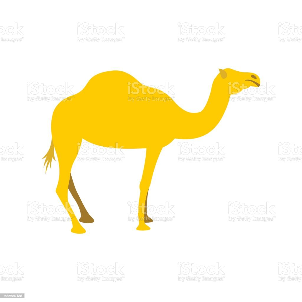 Camel icon, flat style royalty-free camel icon flat style stock vector art & more images of camel