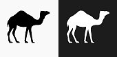 istock Camel Icon on Black and White Vector Backgrounds 811433830