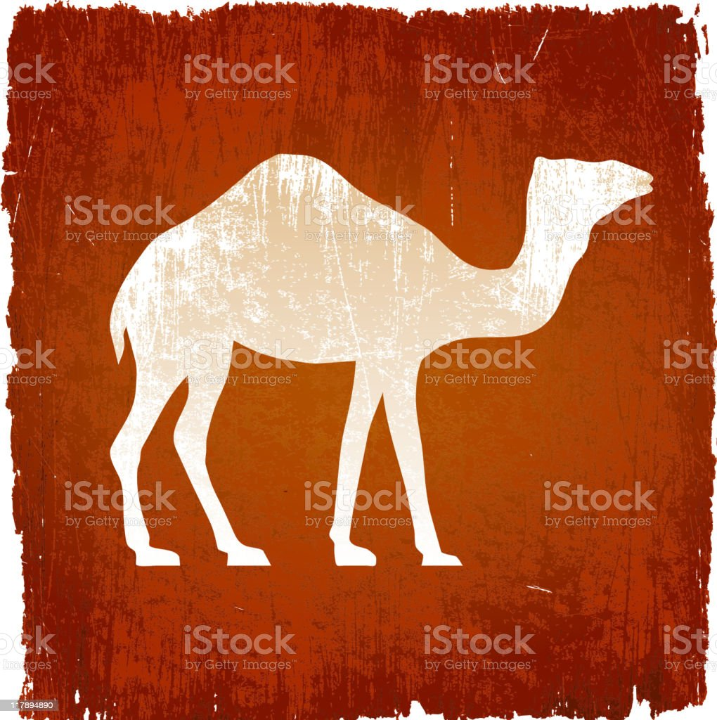 camel on royalty free vector Background royalty-free camel on royalty free vector background stock vector art & more images of animal