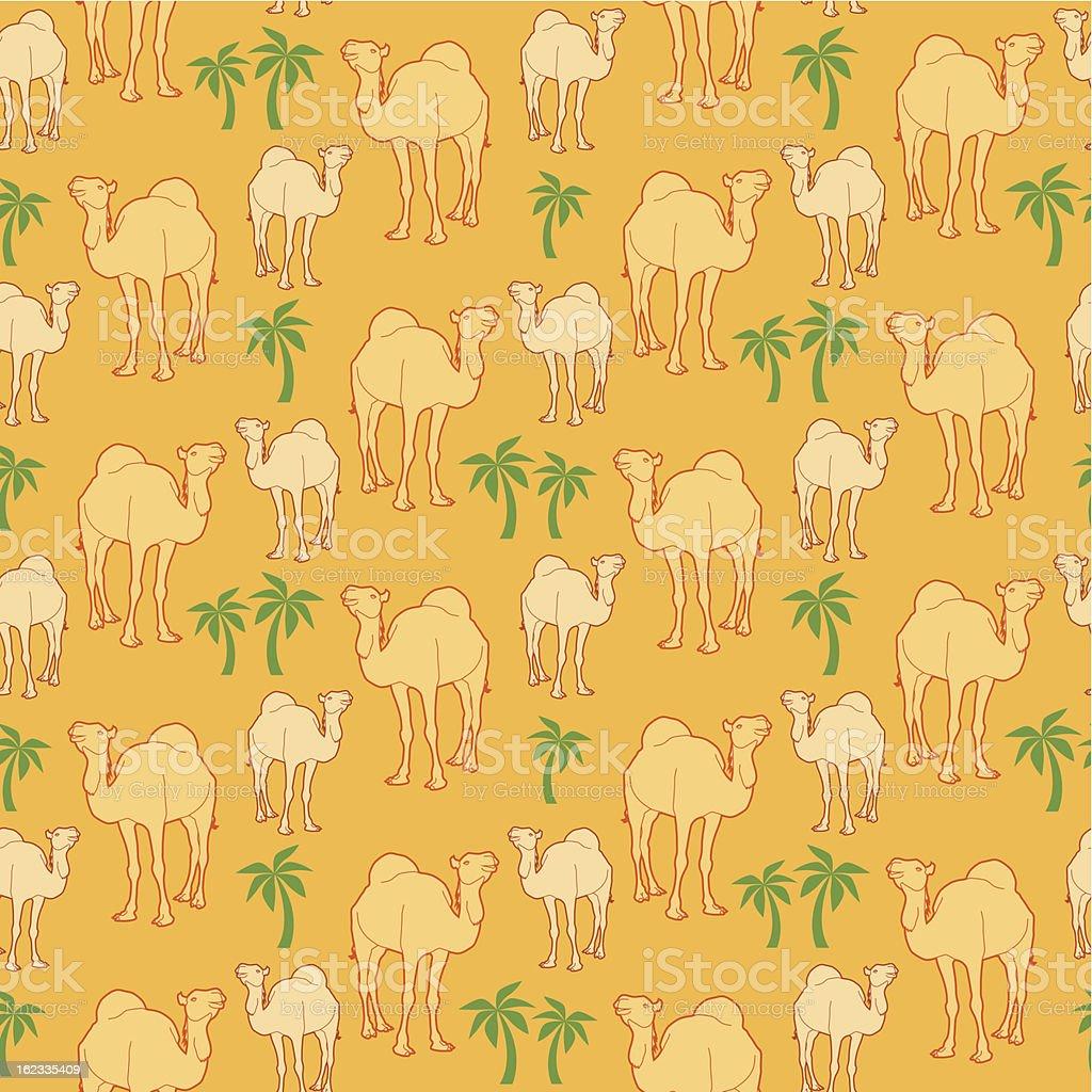 Camel Pattern royalty-free stock vector art