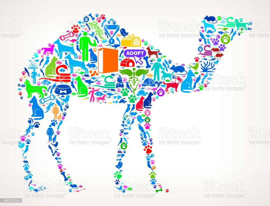 Camello mascotas y animales Vector icono fondo ilustración de camello  mascotas y animales vector icono fondo 554ad4f1acb