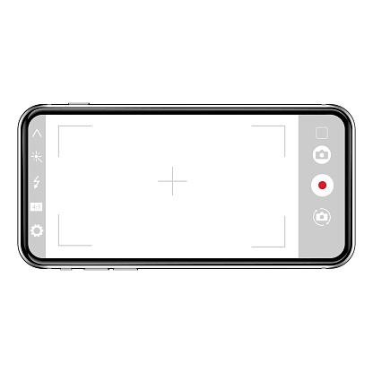 Camera app on screen of smartphone.