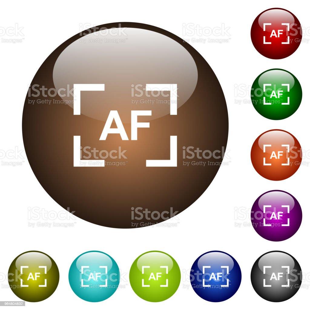 Camera autofocus mode color glass buttons royalty-free camera autofocus mode color glass buttons stock vector art & more images of art