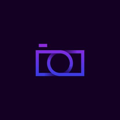 Camera Bag Modern Line Colorful Illustration Vector Design Template