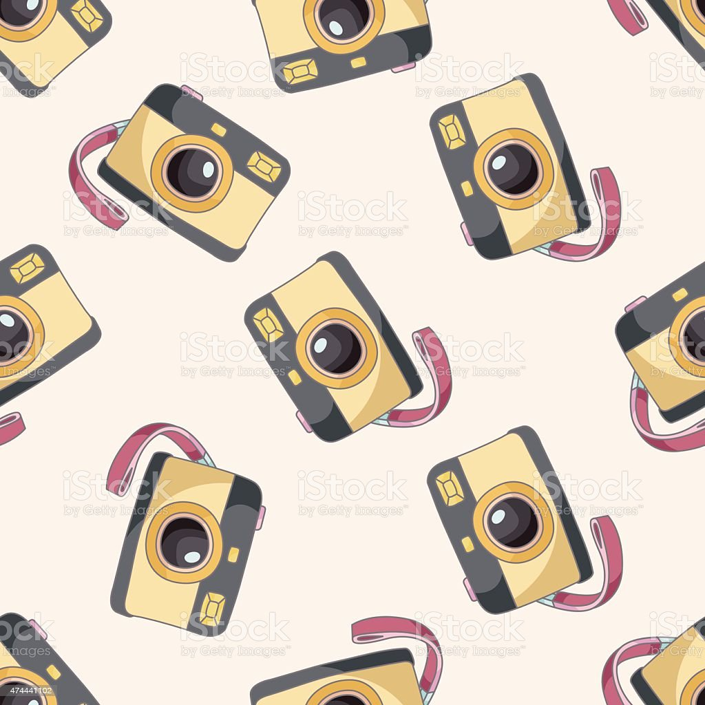 Camera Cartoon Seamless Pattern Background Royalty Free Stock Vector Art