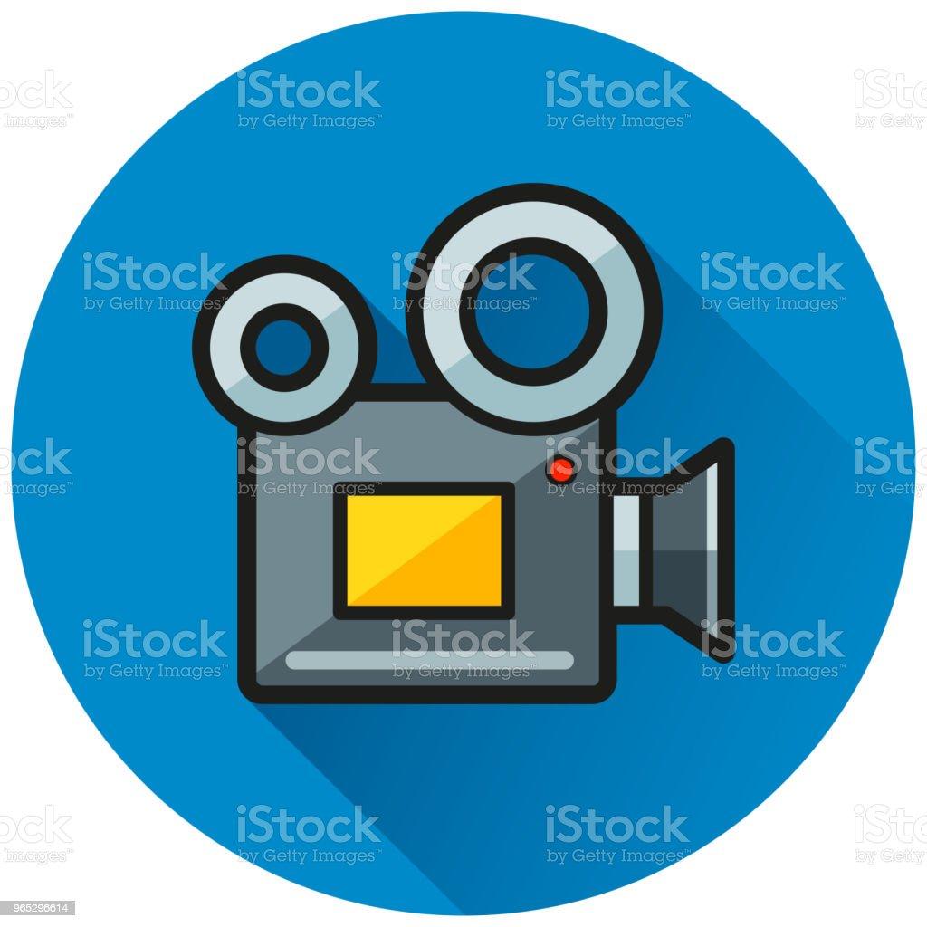 camera circle blue flat icon camera circle blue flat icon - stockowe grafiki wektorowe i więcej obrazów bez ludzi royalty-free