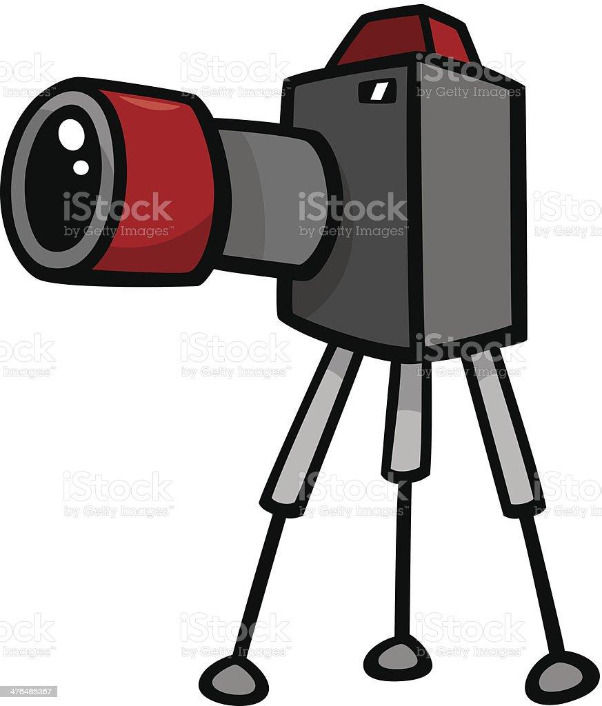 カメラクリップアート漫画イラストレーション のイラスト素材